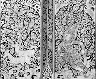 Thai painting on wood Stock Photography