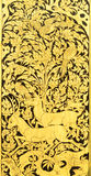 Thai painting on wood gold background Stock Images
