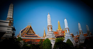 Thai Palace 2011. Palace in the center of Bangkok near Wat Arun. The current government is open to tourism. Weekend's visitors Stock Photos