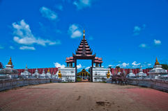 Thai palace temple in burma style Stock Photography
