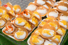 Thai pancake it is delicious snacks Stock Photography