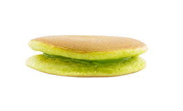 Thai Pandan Custard filled Japanese pancake Stock Photography