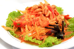 Thai papaya salad Royalty Free Stock Image