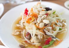 Thai papaya salad Stock Images