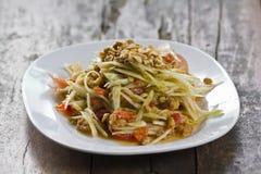 Thai Papaya Salad. (Somtam Royalty Free Stock Photos