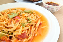 Thai Papaya Salad. It is famous Thais food Thais call Som Tam stock image