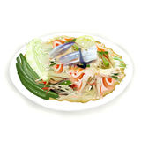 Thai Papaya Salad Stock Photos