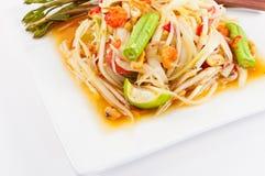 Thai papaya salad Royalty Free Stock Image