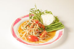 Thai papaya salad Royalty Free Stock Photography