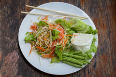 Thai papaya salad also known as Som Tam from Thailand. Royalty Free Stock Images