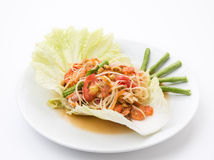 Thai papaya salad also known as Som Tum Royalty Free Stock Photo