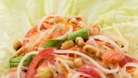 Thai papaya salad also known as Som Tum Stock Image