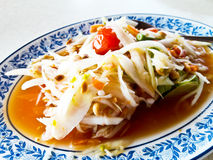 Thai papaya salad also known as Som Tum Stock Images
