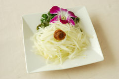 Thai papaya salad. Chinese cuisine. chinese food cold dish. yumcha Stock Photo