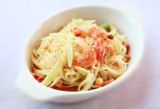 Thai papaya salad delicious Stock Photo