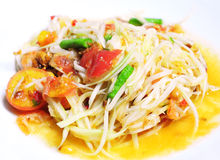 Thai papaya salad Royalty Free Stock Photo
