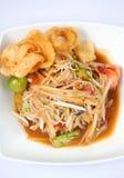Thai papaya salad hot and spicy Royalty Free Stock Images
