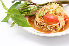 Thai papaya salad hot and spicy Royalty Free Stock Photos