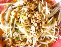 Thai papaya salad hot Royalty Free Stock Images