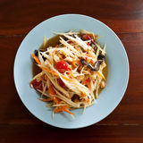 Thai papaya salad hot and spicy mixed from variety of vegetable Stock Photography