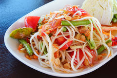 Thai Papaya Salad; Hot and Spicy Mixed with Variet Royalty Free Stock Image
