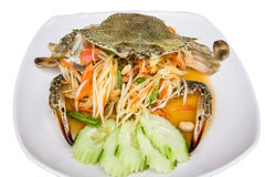 Thai papaya salad. Image Thai papaya salad vegetables Stock Photo