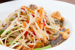 Thai Papaya salad. Thai Papaya pok pok salad thai Stock Photography