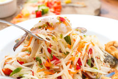 Thai Papaya salad. Thai Papaya pok pok salad thai Royalty Free Stock Photography