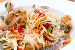 Thai Papaya salad. Thai Papaya pok pok salad thai Stock Images