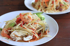 Thai Papaya salad Stock Image