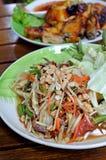 Thai papaya salad Stock Photo