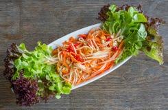 Thai papaya salad Stock Images