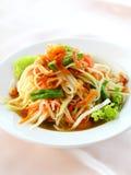 Thai papaya salad (Som Tum). Thai papaya salad also known as Som Tum from Thailand Royalty Free Stock Image