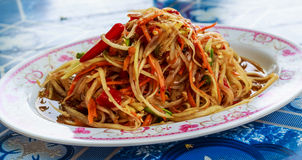 Thai papaya salad or Som Tum Stock Photography