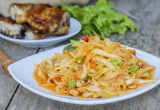Thai papaya salad. Thai papaya salad, Som Tum stock image