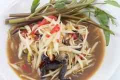Thai papaya salad (Som Tum). Famous Thai food, papaya salad or what we called Somtum in Thai stock images