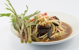 Thai papaya salad (Som Tum). Famous Thai food, papaya salad or what we called Somtum in Thai Royalty Free Stock Images