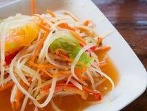 Thai papaya salad Som tum Thai Royalty Free Stock Images
