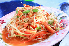 Thai papaya salad. Traditional Thai food royalty free stock photos