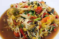 Thai papaya salad, Som Tum or tum sour Royalty Free Stock Photography