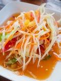 Thai papaya salad Som tum Thai Royalty Free Stock Photography