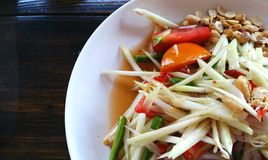 Thai papaya salad. Somtam, Thai papaya salad Stock Image