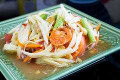 Thai papaya salad. Somtum, traditional Thai food stock image