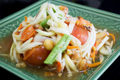 Thai papaya salad. Somtum, traditional Thai food royalty free stock image