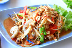 Thai papaya salad. Traditional Thai food Stock Photo