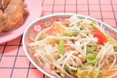 Thai papaya salad. Traditional food of Thailand Stock Photography