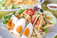 Thai papaya salad. Traditional Thai food Royalty Free Stock Photography
