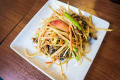Thai papaya salad. Traditional Thai food Stock Photography