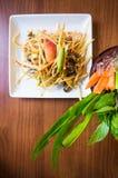 Thai papaya salad. Traditional Thai food. Spicy food Royalty Free Stock Image