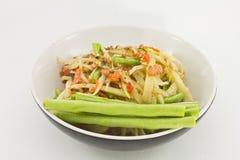 Thai papaya spicy salad. Or know as Som Tum stock image